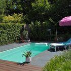 Optimum Pizarra Nero 60x60x4cm bij zwembad