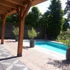 Excluton Noviton 60x60x4cm Lotus naast zwembad