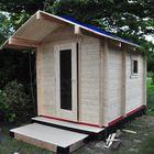 Opbouwen saunahuisje Interflex