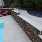 Travertin natuursteen afdekranden 100x30x3cm