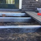 Aluminium onderbalk 40 x 75 mm voorbeeld terras