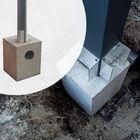 Betonpoer met hemelwaterafvoer 25 x 25 x 75 cm voor aluminium overkappingen
