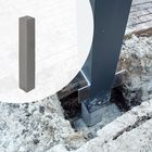 Betonpoer voor aluminium overkappingen 10x10 cm zonder Hemelwaterafvoer