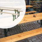 Biertafel met 2 banken 220 x 50 cm Hout met stalen onderstel