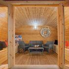Cabane en bois ovale - Tuindeco - Intérieur