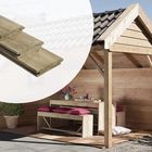 Blokhutprofiel Planken Geïmpregneerd Naaldhout 3.0 x 13 cm
