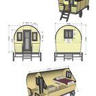 Western Wagen Bett und Tisch Set Details