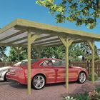 Doppel-Carport für zwei Fahrzeuge