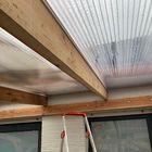 Detail carport - Balk Lariks Douglas 5 x 15 cm