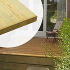 Vlonderplank / steigerplank geïmpregneerd glad geschaafd 2.8 x 19.5 cm