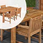 Dinner set Teak Hardhout Modern 180 x 90 cm 4 stoelen Birmingham