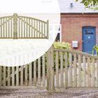 Dubbele poort Geïmpregneerd naaldhout 300 x 118 cm