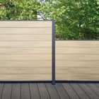 Tuinscherm composiet fun-fence grijsbruin voorbeeld