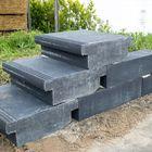 Traptreden Beton Massief Met Neus 45 x 15 x 50 cm Antraciet Zwart