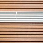 Glazen schuifwand voor overkapping 6-delig breedte 578 cm met onder-, boven-, en zijprofiel 228,6 cm