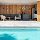 Gevelbekleding poolhouse Thermo Vuren
