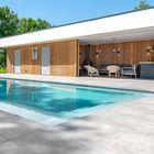 Gevelbekleding poolhouse Thermisch Gemodificeerd Vuren
