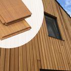Gevelparket Planchette Tand en Groef Thermisch gemodificeerd Ayous 1.5 x 13 cm met vellingkant