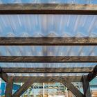 Lariks Douglas balk 5 x 10 x 300 cm Zwart dakbalken