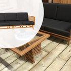 Hardhouten 3-zits tuinbank Demi 220 x 80 x 83 cm met antraciet kussen