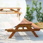 Hardhouten Picknicktafel Groot 250 x 160 x 75 cm Bladdikte 45 mm