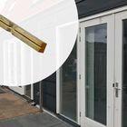 Houten Rachel 2.1 x 4.5 cm in Geïmpregneerde Ventilatielatten voor gevelbekleding