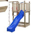 Houten Speeltoestel Mario Speeltoren met glijbaan, zandbak, klimtouw en hoog speelhuisje met trap