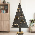 Zwarte houten kerstboom steigerhout gouden versiering
