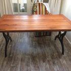 Tafel gemaakt van Tigerwood planken