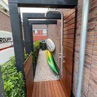 Doucheruimte voor buiten met Ipé planken