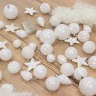 Kerstballen onbreekbaar wit kerstversiering