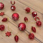 Kerstboomversiering luxe rood onbreekbare kerstballen