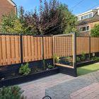 Red Class Wood tuinscherm met onderplaat van beton
