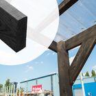 Lariks Douglas balk 5 x 15 x 500 cm Zwart - Fijnbezaagd