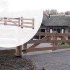 Luxe Inrijpoort Hek Eikenhout Glad geschaafd 3 planks breedte 100 - 400 cm