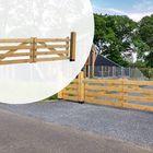 Luxe Inrijpoort Hek Eikenhout Glad geschaafd 4 planks breedte 100 - 400 cm