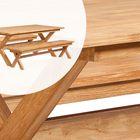 Luxe Picknickset Teakhout Kruispoot tafel met banken 200 x 100 x 75 cm