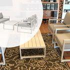 Moderne Loungeset 5-delig Aluminium Wit Inclusief Kussens QuickDry Hoogwaardig Outdoor Kussens