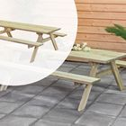 Picknicktafel Geïmpregneerd hout 200 x 155 x 74 cm