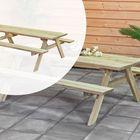 Picknicktafel Geïmpregneerd hout 220 x 154 cm voor 4-6 personen