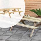 Picknicktafel Geïmpregneerd hout 300 x 154 x 74 cm Voor 10-12 personen