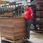 Plantenbak ipe hardhout 120 x 120 cm