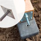 RVS M20 hoogteverstelling voor betonpoer XL met plaat - 3mm dikte