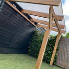 Red Class Wood Overkapping met Melkwit Polycarbonaat dak