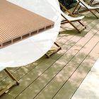 Resysta vlonderplank Bruin Grijs - effen/fijne ribbel zijde