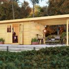Gartenhaus Torgau 4 Karibu mit Anbaudach