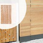 Schuttingdeur Lariks Douglas deur in stalen frame Hoogte 195 cm met RVS slot Diverse breedtes