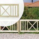 Sierhek enkel kruis naaldhout 150 x 75 cm geïmpregneerd