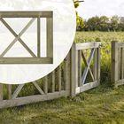 Sierpoort enkel kruis naaldhout 100 x 75 cm
