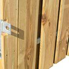 Schuttingdeur met stalen frame en geïmpregneerd hout